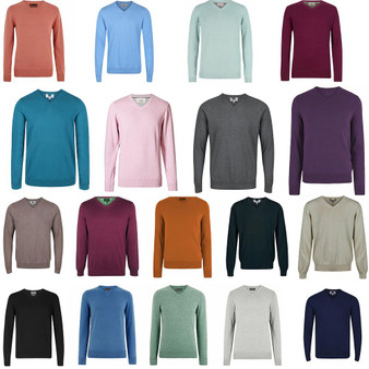 M&S Collection Pure Cotton V Neck Jumper RRP £19.50