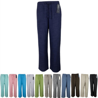 Saloos Linen Look Trouser Casual or Eveningwear Elasticated Waist