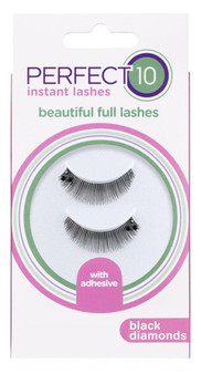 Perfect 10 Instant Lashes - Black Diamond Lashes (1 Pair With Glue)