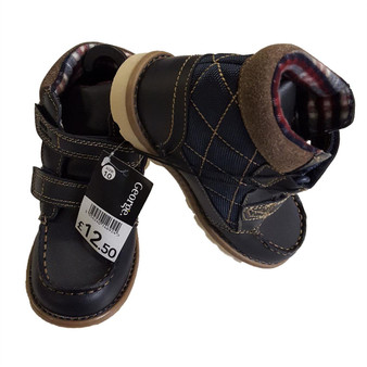 EX Store Boys Kids Childrens Velcro Close Smart Boots UK10 / EU 28