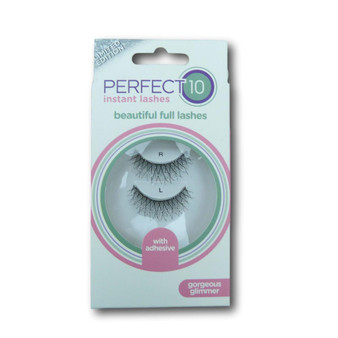 Perfect 10 Instant Lashes - Gorgeous Glimmer Lashes (1 Pair With Glue)