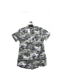 Peacocks Mens Shirts Short Sleeve Camo Hawaiian RRP 12.00