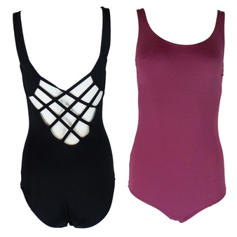 EX M&S Marks And Spencer Cross Back Swimsuit (Wine or Black)