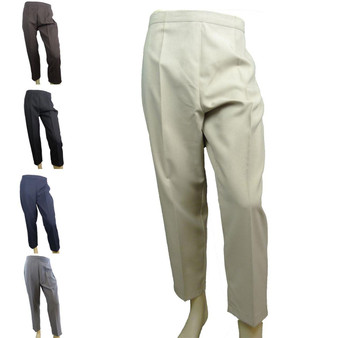 Ladies Womens Elasticated Waist Trousers / Pants (5 Colour Choices)
