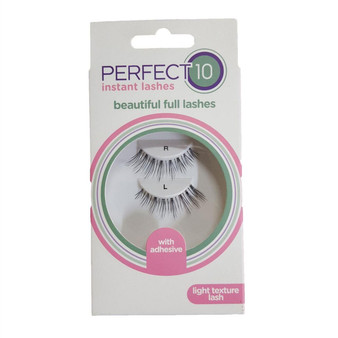 Perfect 10 False Eyelashes - New Lash - Light Texture
