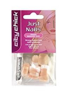 City Chick Just Artificial Nails French Manicure Bare