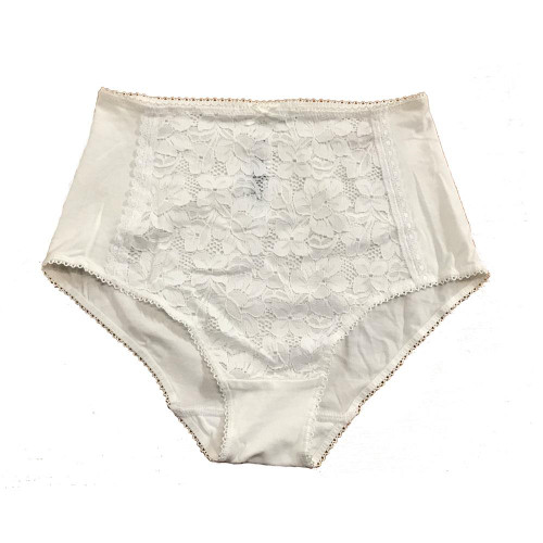 Ex M&S Brief White Front Lace Panel Knickers