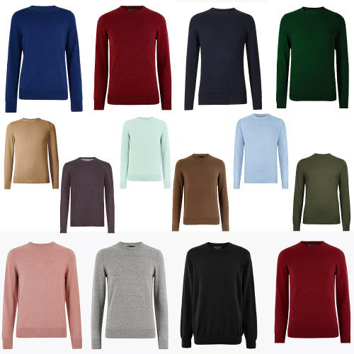 M&S Collection Pure Cotton Crew Neck Jumper RRP £19.50
