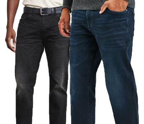 Ex Next Men's Jeans Straight Leg with Stretch Cotton Rich Brand New