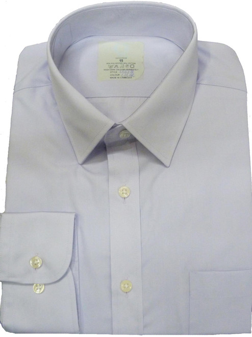Fa M Ou S Store Easy Care Regular Fit Lilac Shirt