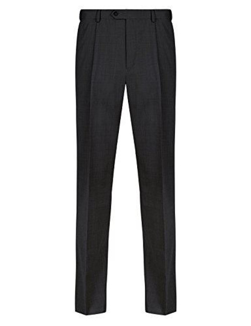 Ex M&S Men's Trousers Ultimate Perfomance Flat Front with Wool