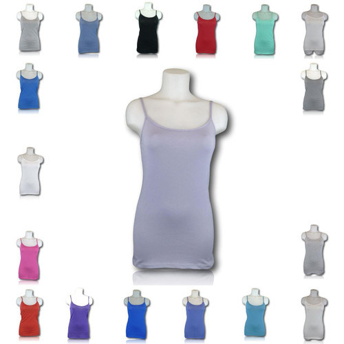 EX M&S Marks And Spencer Stretchy 95% Cotton Strappy Camisole Top Layering Vest 18 Colours
