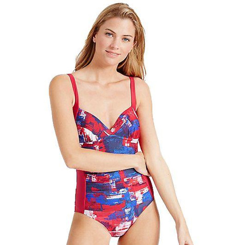 EX M&S Marks And Spencer Secret Slimming Twisted Plunge Swimsuit
