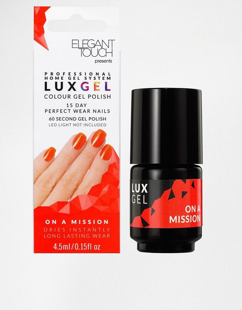 Elegant Touch Lux Gel 15 Day Perfect Wear Nail Polish - On A Mission (Orange)