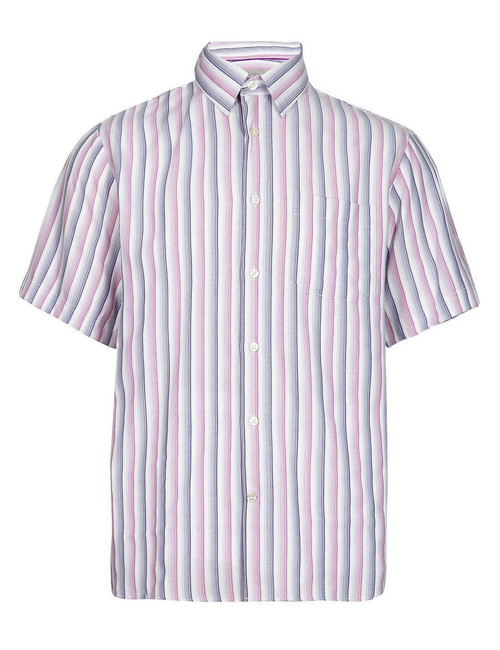 EX M&S Marks And Spencer Modal Rich Soft Touch Fine Striped Shirt