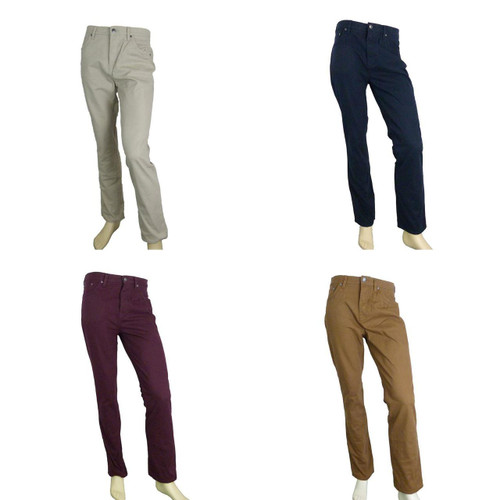 Hammond & Co By Patrick Grant Navy / Wine Twill Trousers Jeans