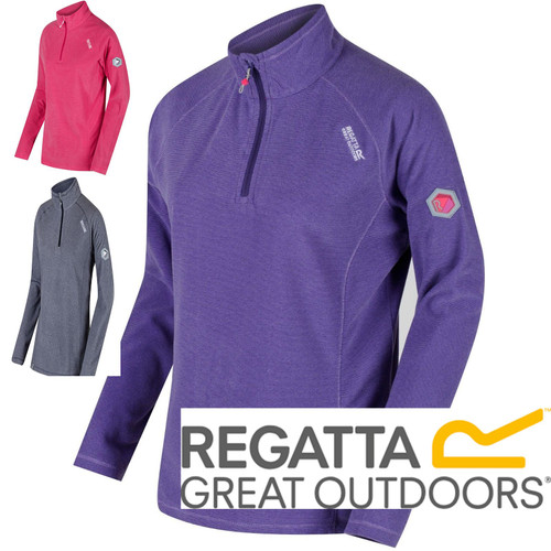 Regatta Womens Ladies Montes Half Zip Ribbed Fleece Pullover RWA240