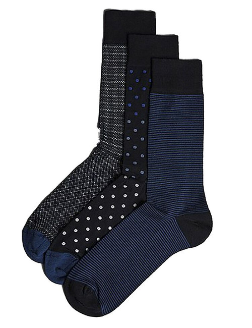 Mens Ex M&S Autograph 3 Pack Modal Blend With Pima Cotton Socks UK Size 6-12