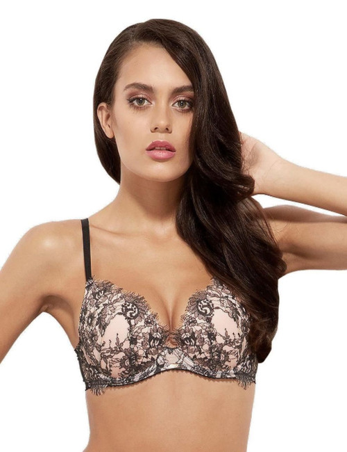 Gossard VIP Dark Romance Lightly Padded Plunge Bra 12601 New Sexy Lingerie