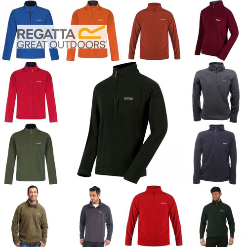 Regatta Thompson Mens Half Zip Fleece Top Pullover RMA021