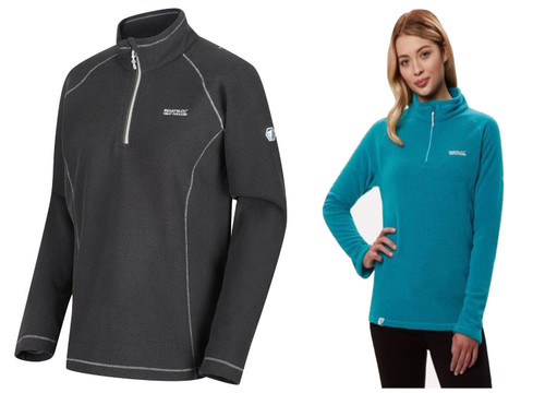 Regatta Kenger Ladies Womens Lightweight Micro Half Zip Fleece