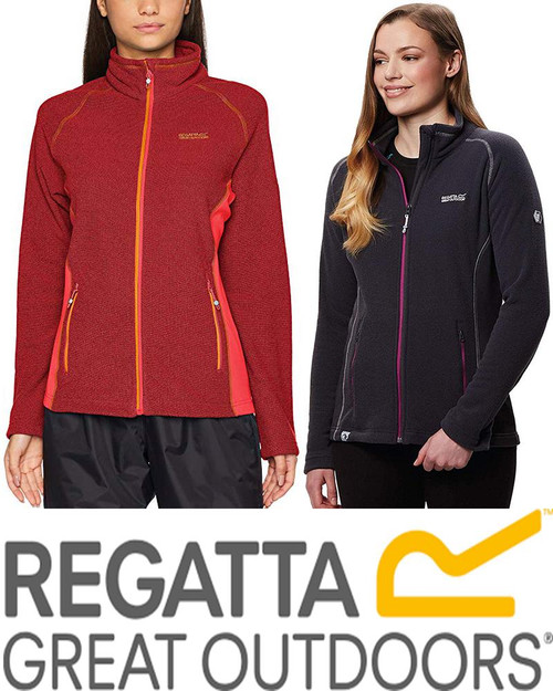 REGATTA WOMENS TAFTON HONEYCOMB FLEECE STRETCH JACKET RWA317