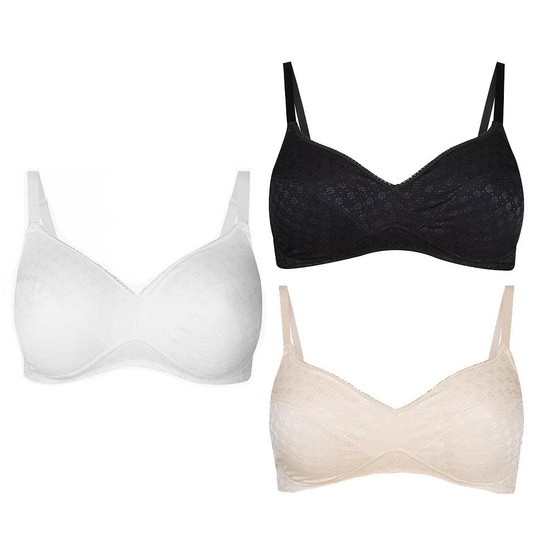 Ex M&S Collection 2 Pack Jacquard Padded Full Cup Bras AA-DD