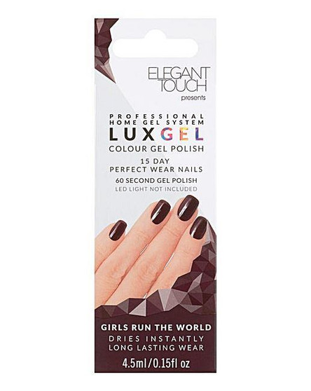 Elegant Touch Lux Gel 15 Day Perfect Nail Polish - Girls Run The World (Plum)