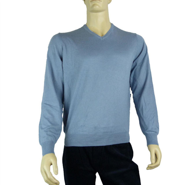 New Ex M/&S Mens Navy Cotton Jumper Crew Neck Long Sleeve Sweater Pullover S /& L