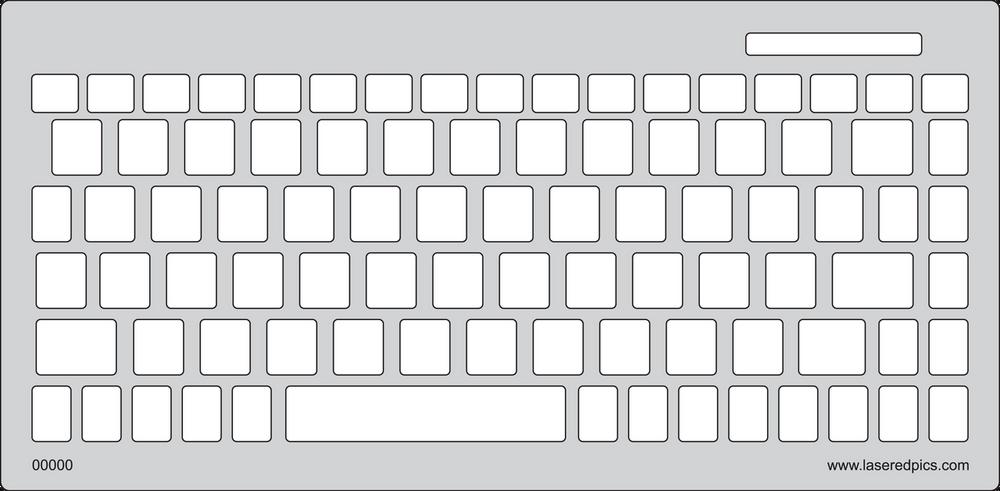 Keyguard for the SolidTek 595U US English version.