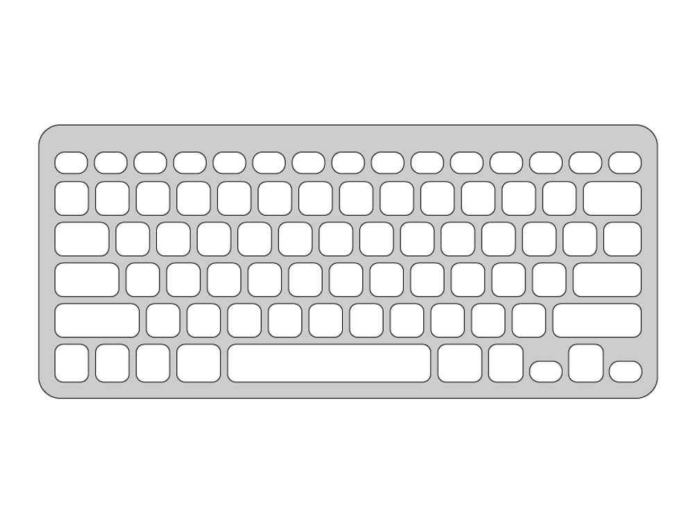 Keyguard for Logitech Easy-Switch Keyboard