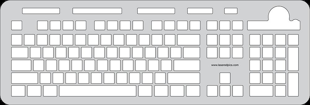 Azio Vision Large Font USB Keyboard Keyguard