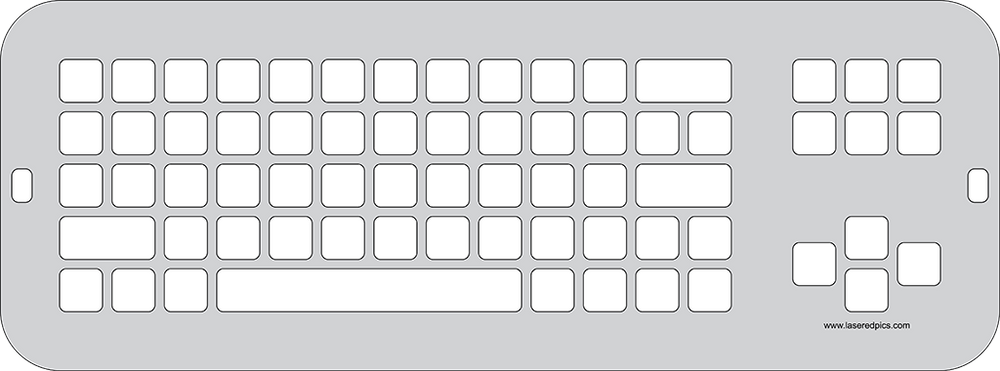 Keyguard for the Clevy Keyboard.