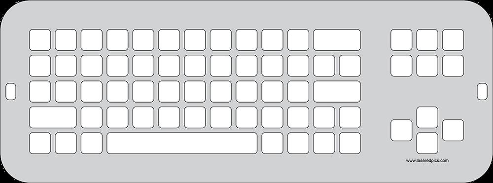 RJ Cooper LARGEKeys Keyboard Keyguard