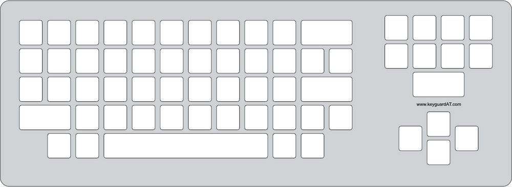Keyguard layout for Dura Gadget keyboard