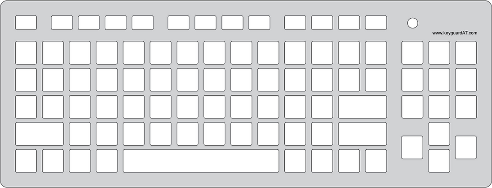 Keyguard for Accuratus Monster2 keyboard.