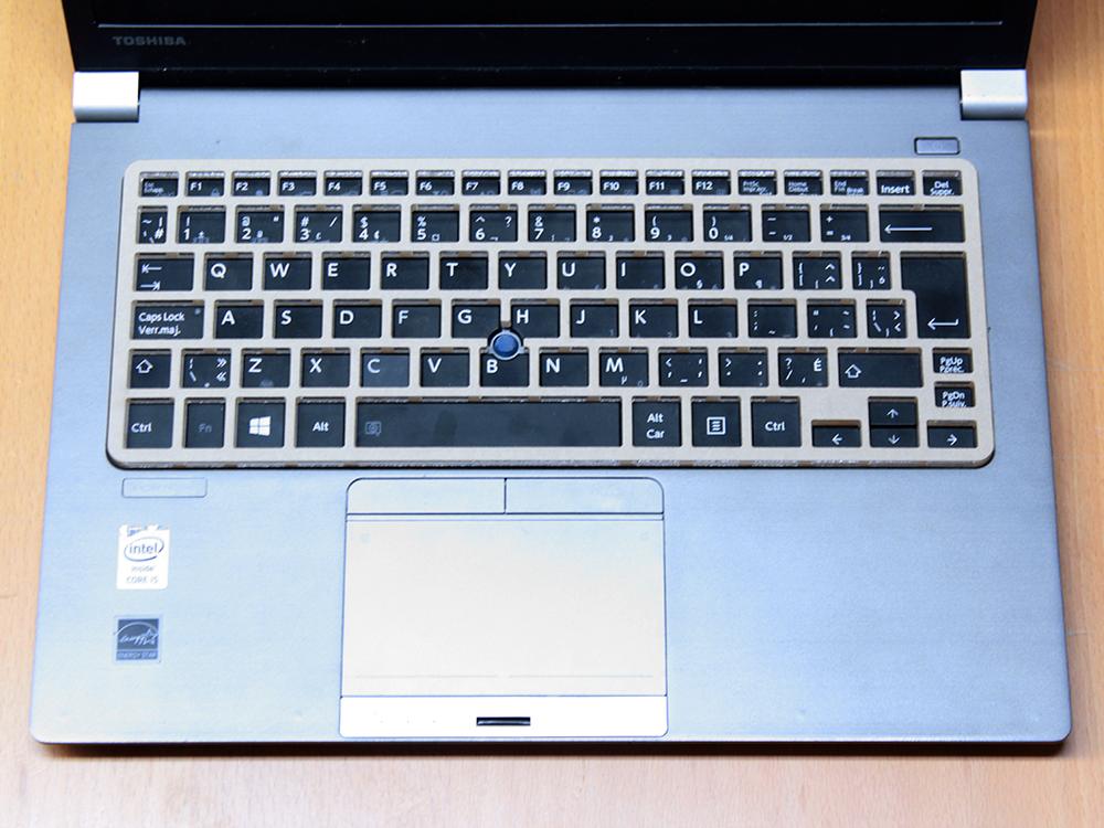 Keyguard on the Toshiba Portege Z30-A laptop.