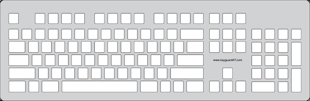Keyguard for the Razer BlackWidow keyboard.