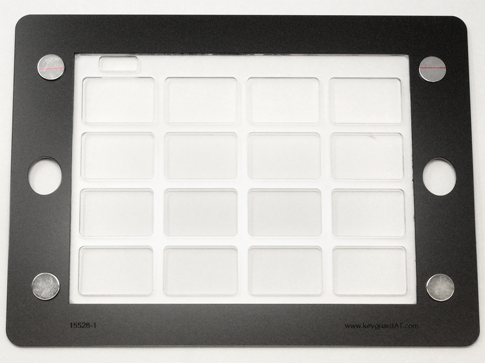 Grid for iPad keyguard with magnetic attachment (only fits certain iPad cases).