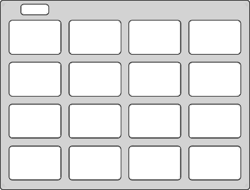 Keyguard for basic Grid for iPad grid.