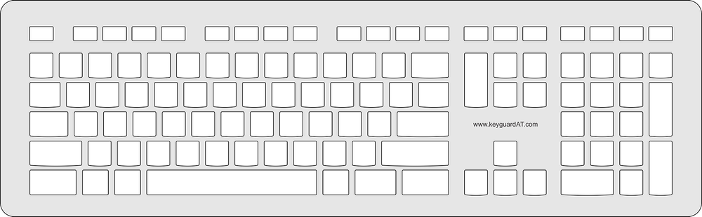 Keyguard for the Logitech K740 Illuminated keyboard.