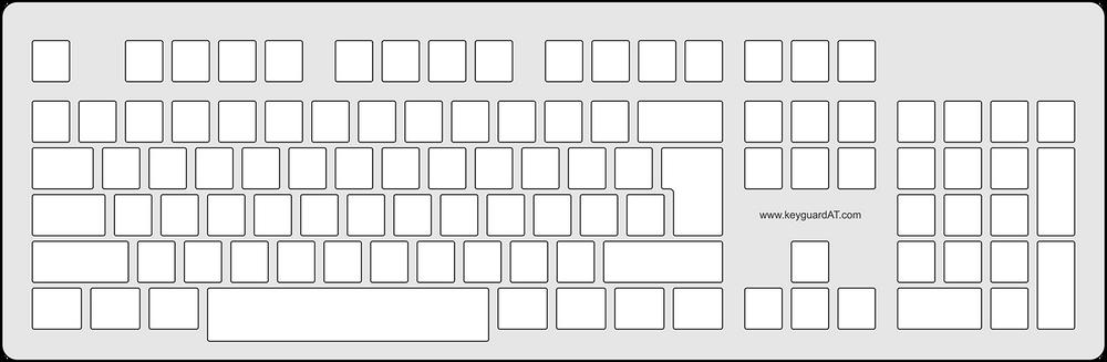 Keyguard for the aigo WQ7605 keyboard.
