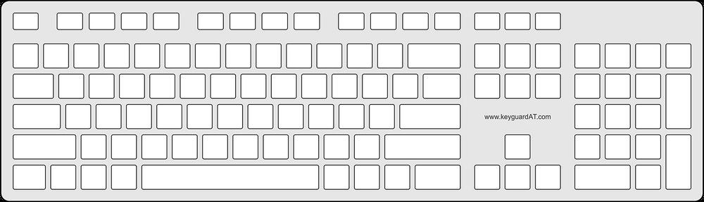 Keyguard for the Dell KB216 Multimedia Keyboard