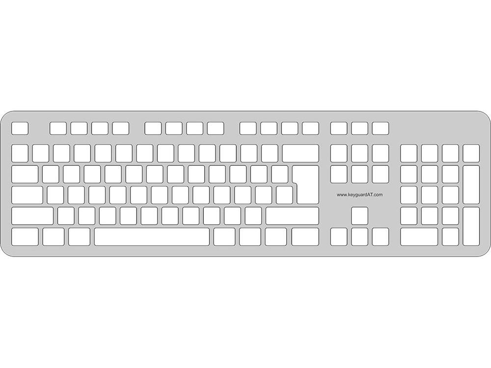 Keyguard for the DigiPlanet LD-106 Dvorak Keyboard