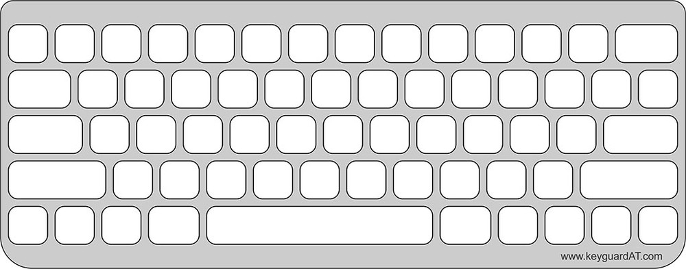 Keyguard for the Apple Magic Keyboard for iPad (original model)