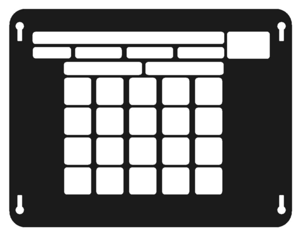 Numeric layout
