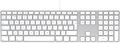 UK English version fits Apple Keyboard with Numeric Keypad - British
