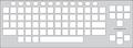 Keyguard for the Chester Creek BigBlu keyboards.