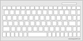 Keyguard for French Canadian version 595U-CF.