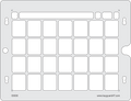 CoughDrop 4 x 7 keyguard